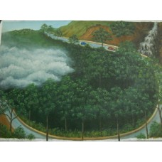 Landscape Of Kohima (Nagaland) - Canvas natures painting